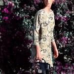çiçekli kapri kol yazlık elbise modelleri