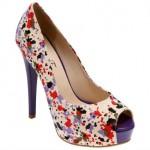 çiçekli platform topuklu ayakkabı modelleri