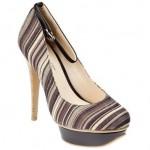 çizgili platform topuklu flo ayakkabı modelleri