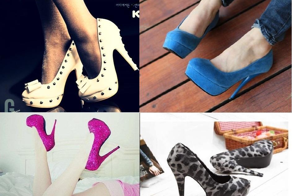 farklı platform topuklu ayakkabı modelleri