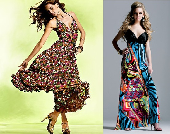uzun elbise örnekleri