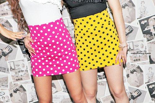 2012 renkli puantiyeli kisa etekler Rengarenk Model Model Mini Yazlık Etekler 2