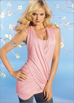 2012 trend pembe kolsuz tunik ornekleri Yeni Sezon Trend T-shirt Modelleri 5