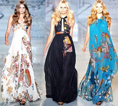 2012 yeni sezon maxi modern sik elbiseler En Güzel Maxi Elbise Modelleri 1