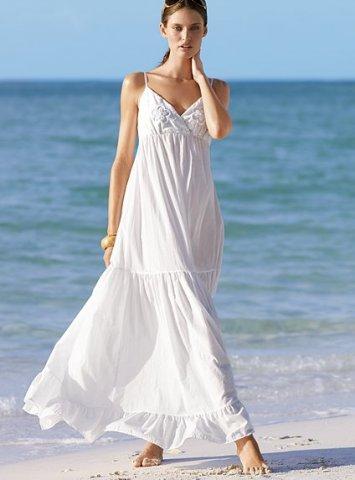 beyaz ip askili uzun elbise modelleri En Güzel Maxi Elbise Modelleri 4