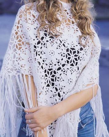 beyaz tig isi sal modelleri ornekleri Trend En Güzel Örgü Şal Modelleri 3