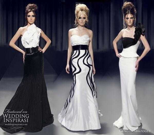 cengiz abazoglu siyah beyaz abiye elbiseler Yeni Sezon Cengiz Abazoğlu Abiye Elbise Koleksiyonu 25