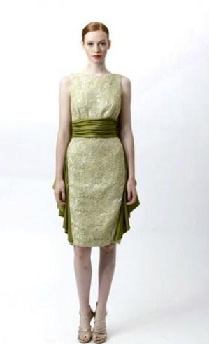 dantelli kolsuz yesil kemerli elbise ornekleri Desen Desen En Şık Yazlık Bayan Elbise Modelleri 7