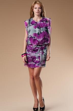 desenli sifon mini elbise modelleri 2012 En Güzel Yazlık Elbiseler 7