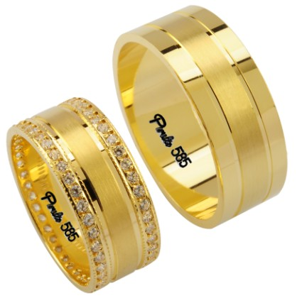 en guzel alyans cesitleri Evliliği Simgeleyen Kalın Altın Alyans Örnekleri 8
