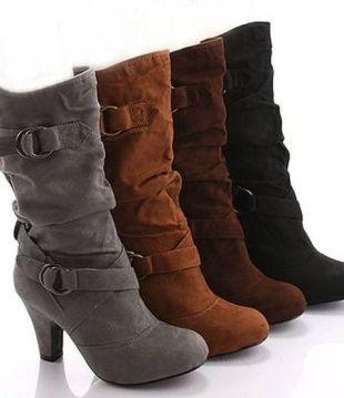 en guzel suet topuklu cizme cesitleri1 Yeni Tend Topuklu Bayan Çizme Modelleri 15