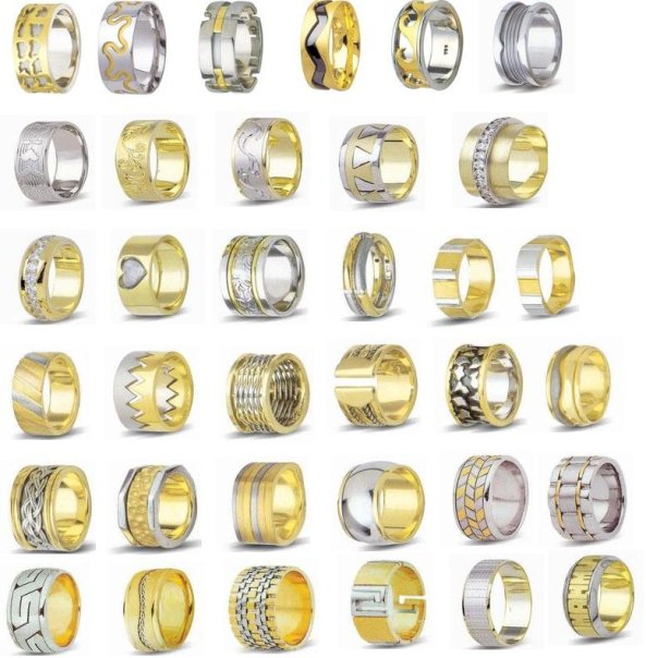 farkli altin alyans ornekleri Evliliği Simgeleyen Kalın Altın Alyans Örnekleri 10
