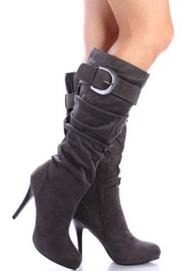 farkli gri suet cizme ornekleri Yeni Tend Topuklu Bayan Çizme Modelleri 17