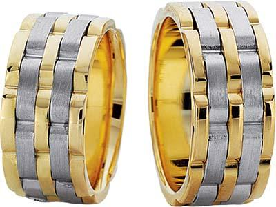 farkli modelde altin alyans cesitleri Evliliği Simgeleyen Kalın Altın Alyans Örnekleri 13