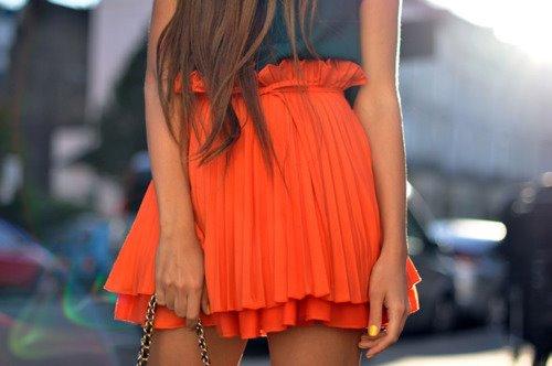 farkli turuncu kisa etek cesitleri Rengarenk Model Model Mini Yazlık Etekler 22
