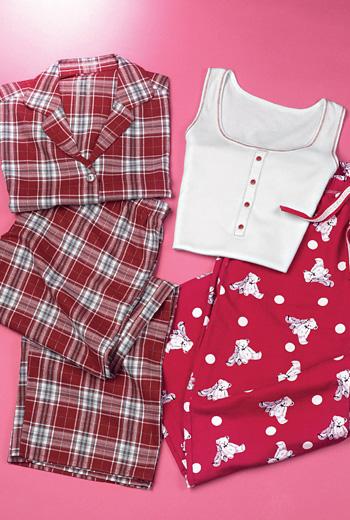 kareli panye pijama takimlari modelleri En Güzel Bayan Penye Pijama Takımları 20