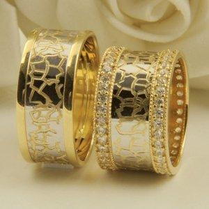 kendinden desenli kalin altin alyans ornekleri Evliliği Simgeleyen Kalın Altın Alyans Örnekleri 15