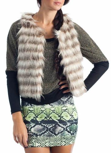 krem rengi kahverengi cizgili kurk yelek ornekleri Bayan Yazlık En Güzel Yelek Modelleri 19