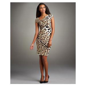 leopar desenli kisa kollu bayan elbise modelleri 2012 En Güzel Yazlık Elbiseler 11