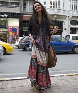 maksi elbise ile sokak modasi ornekleri Yeni Sezon Farklı Sokak Modası 13