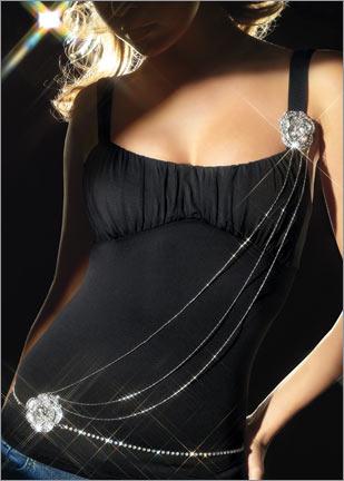 omuzdan zincir dokumlu ince tasli kemer modelleri1 Abiye Kıyafetler İçin Farklı Takı Tasarımları 17