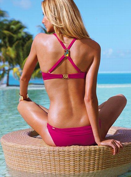 pembe arkadan caprazli bikini modeli Yeni Sezon Farklı Mayo Bikini Mayokini Modelleri 9