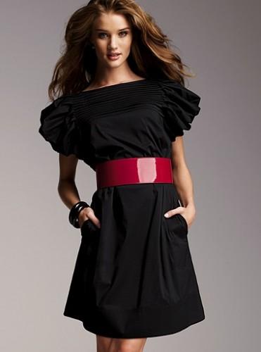 pembe kemerli cepli siyah keten elbise Desen Desen En Şık Yazlık Bayan Elbise Modelleri 19