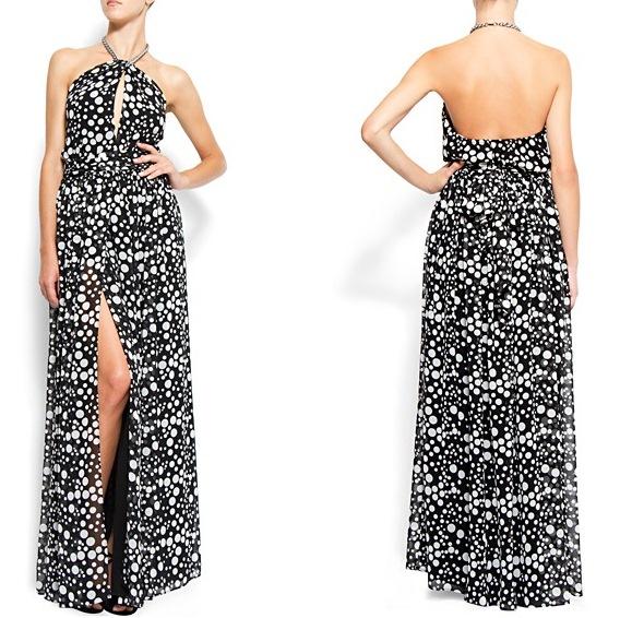 sirt dekolteli yirtmacli boyundan baglamali maksi elbiseler Birbirinden Güzel Mango Bahar Koleksiyonu 13