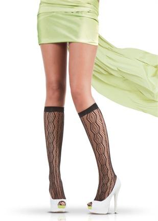 siyah baklava dilimli kisa bayan coraplari Trend Pierre Cardin Bayan Çorapları 16
