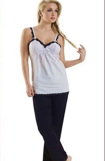 siyah beyaz ip askili penye pijama takimlari modelleri En Güzel Bayan Penye Pijama Takımları 11