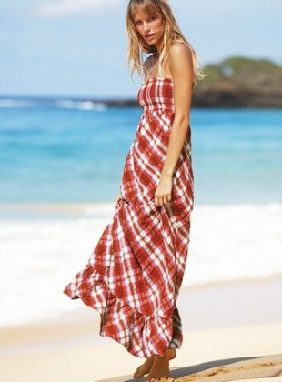 straplez uzun gunluk elbise modelleri En Güzel Maxi Elbise Modelleri 21