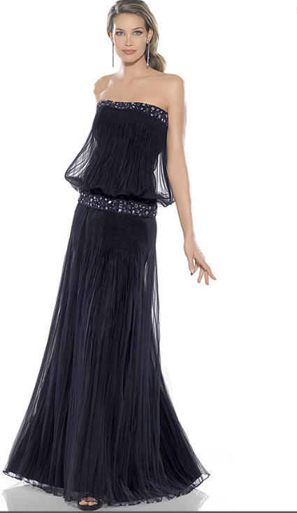 straplez uzun siyah abiye elbise modelleri Yeni Trend Siyah Gece Elbiseleri 17