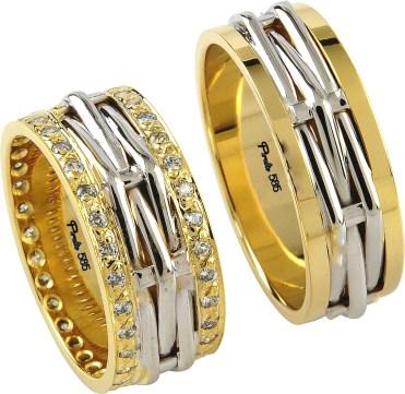 tasli alyans ornekleri Evliliği Simgeleyen Kalın Altın Alyans Örnekleri 1