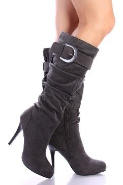 tokali bayan suet cizme ornekleri1 Yeni Tend Topuklu Bayan Çizme Modelleri 5