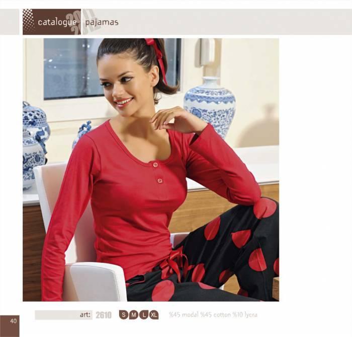 uzun kollu pijama takimi modelleri En Güzel Bayan Penye Pijama Takımları 15