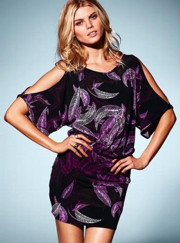 yarasa kol yaprak desenli kisa elbise modelleri Yaz Aylarının Vazgeçilmezleri Kısa Elbiseler 11