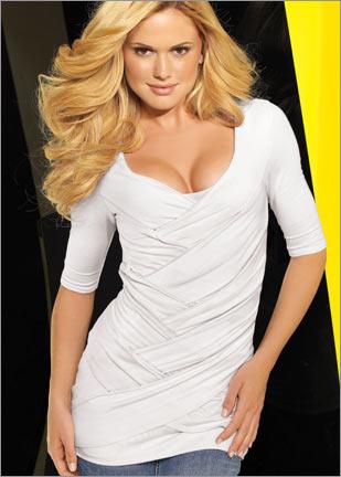 yarim kollu bayan tshirt modelleri ornekleri Yeni Sezon Trend T-shirt Modelleri 20