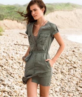 yarim kollu keten dugmeli mini elbise Desen Desen En Şık Yazlık Bayan Elbise Modelleri 26