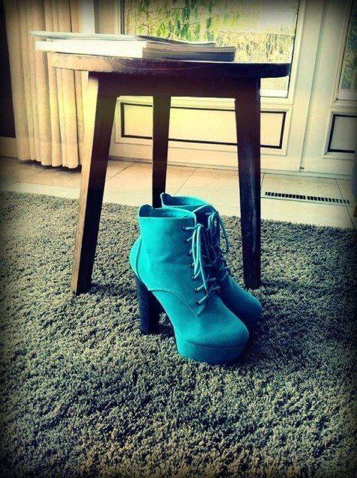 yesil ipli kalin topuklu ayakkabi En son Moda Platform Topuklu Ayakkabılar 13