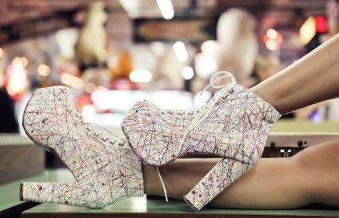 yuksek platformlu kalin topuklu elisse ayakkabilar1 Yeni Sezon Elisse Platform Topuklu Ayakkabılar 8