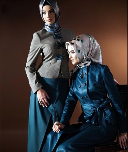 2012 bayan eket ceket ve pardesu modelleri En Güzel Tesettür Giyim Modelleri 23