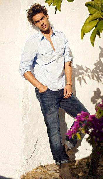 2012 erkek kot pantolon ve gomlek kombinleri 2012 Yeni Sezon Mavi Jeans Kreasyonu 2
