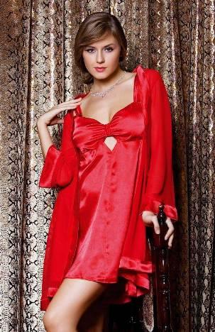 2012 sabahlikli saten gecelik modelleri Trend Kırmızı Fantazi Gecelik Modelleri 1
