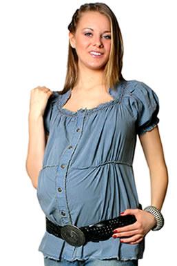 2012 yazlik jean hamile bluzlari1 Trend Farklı Hamile T-Shirt Modelleri 20
