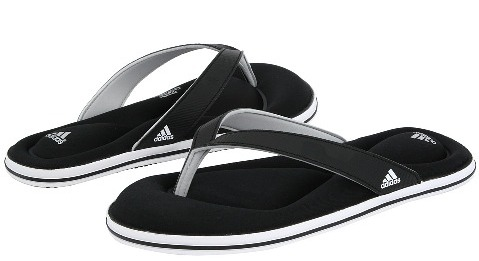 adidas 2012 yeni sezon siyah parmak arasi terlik modelleri Yeni Trend Parmak Arası Terlik Modelleri 3