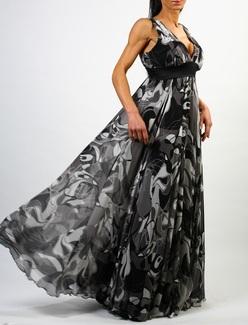 askili dekolte abiye sifon elbise modelleri Yeni Sezon Yazlık Şifon Elbise Modelleri 14