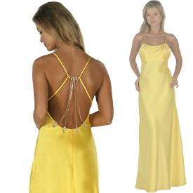 bel dekolteli sari abiye elbise modelleri En Güzel Dekolte Abiye Elbise Modelleri 5
