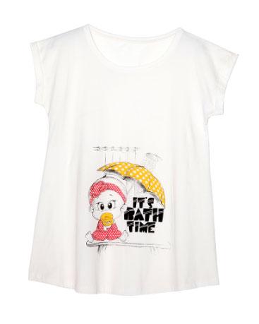 beyaz degisik modelli en guzel hamile t shirtleri Lc Waikiki Yeni Sezon Hamile Kıyafetleri 19