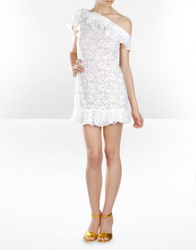 beyaz dusuk omuzlu mini elbise modelleri Yeni Sezon Dolce Gabbana Kreasyonu 1