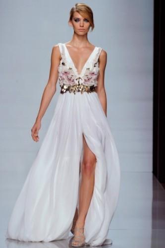 beyaz uzun sifon abiye elbise modelleri Yeni Sezon Yazlık Şifon Elbise Modelleri 16